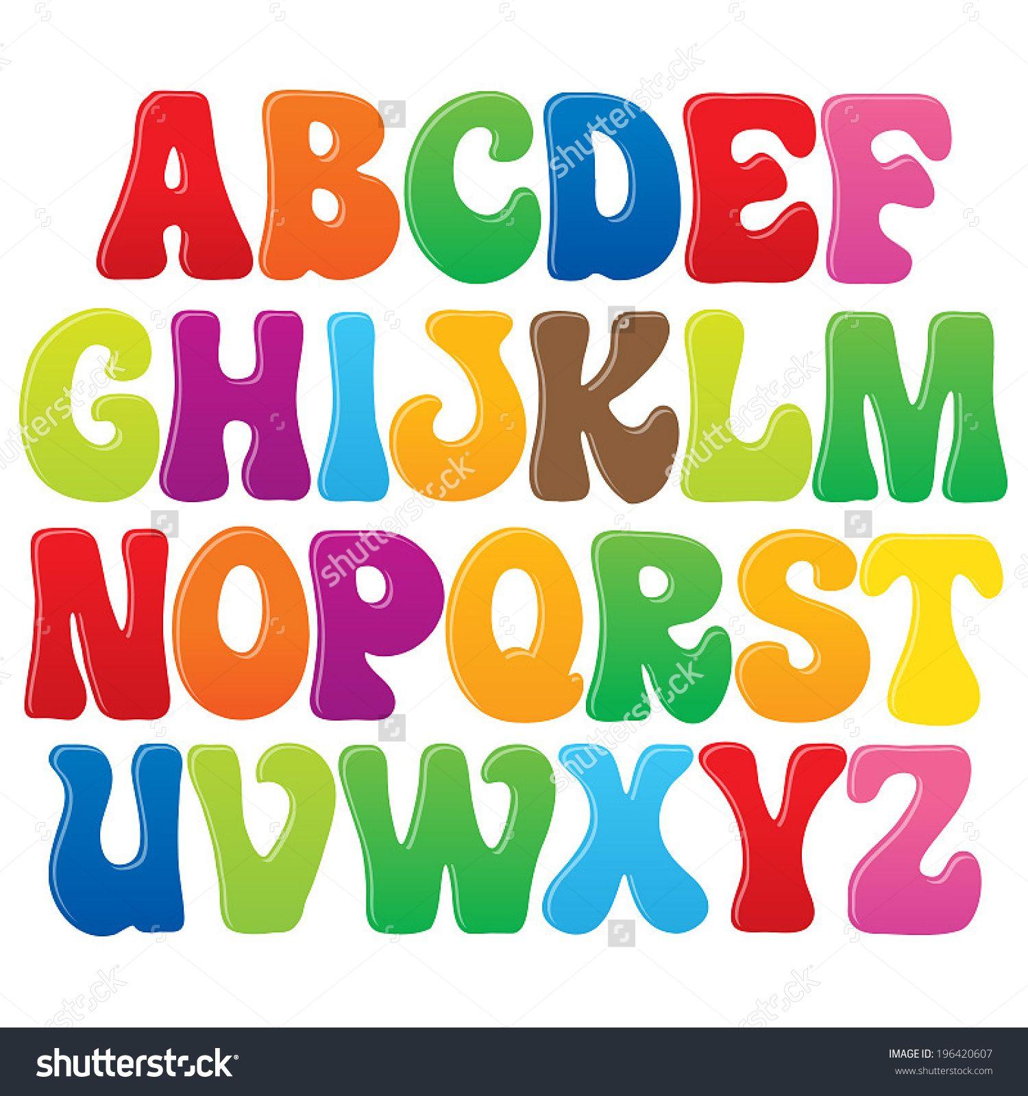 English Art Fonts For Kids