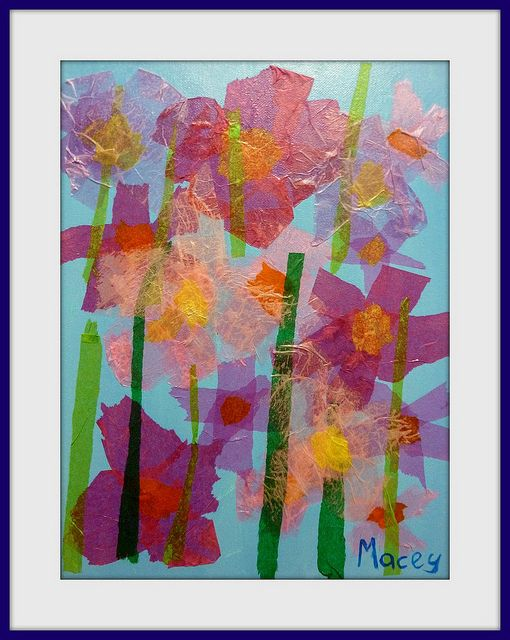 Spring by removed tissue paper art craft i can do with kids tissue paper art craft i can do with kids mightylinksfo