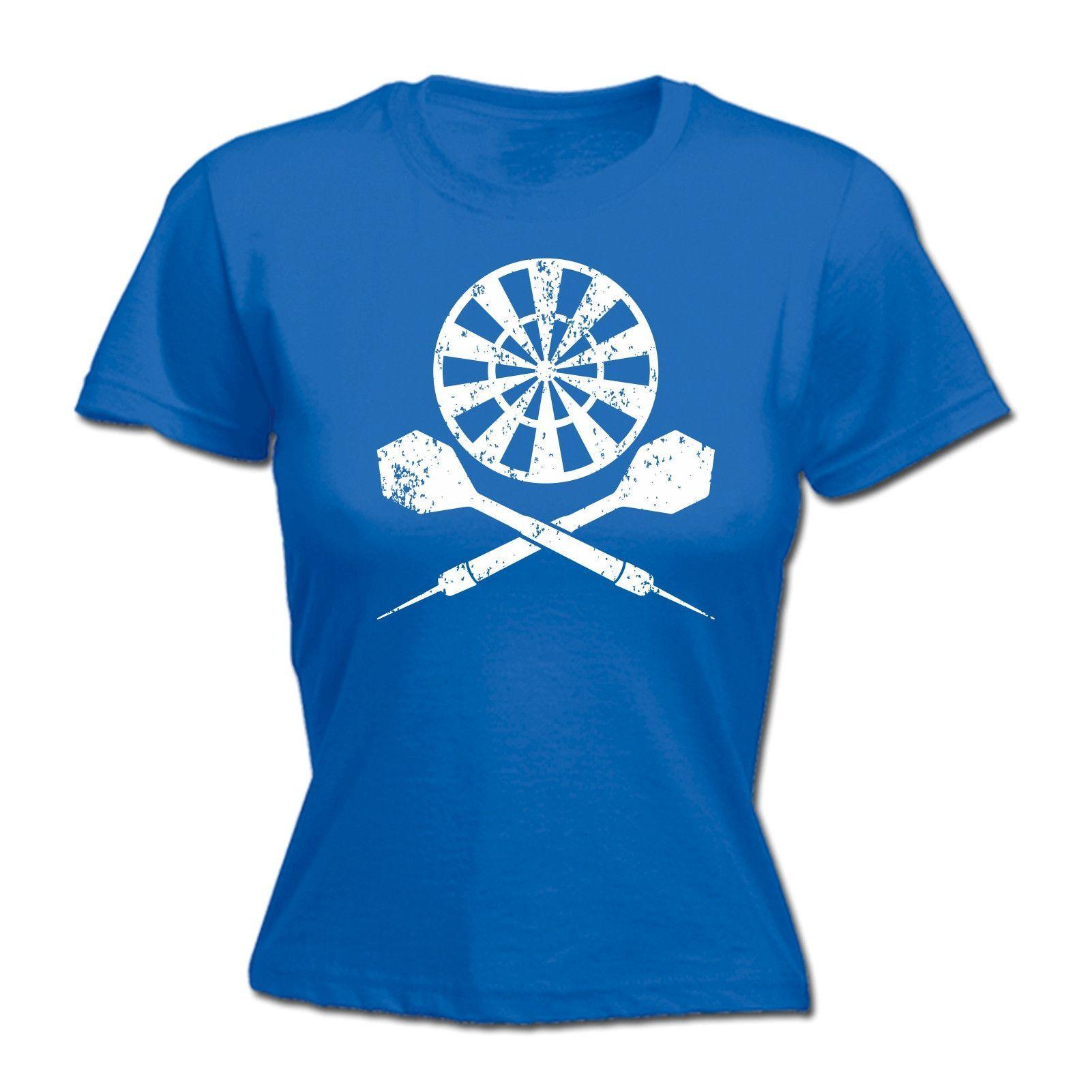 123t USA Women's Darts Board ... Cross Design Funny T-Shirt