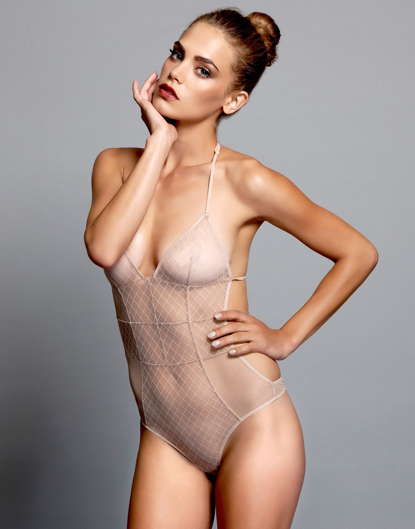 tiny model nude Stretch illusion fishnet and corset like seamlines take this uber sexy  bodysuit to the next level. The front cuts in to highlight your tiny waist  and the ...
