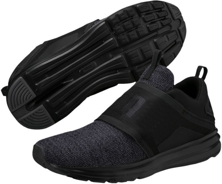 Enzo Strap Knit Men's Running Shoes