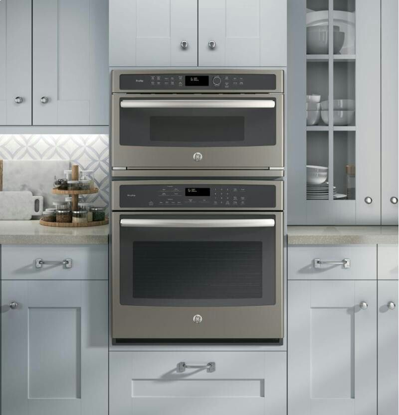 GE slate double wall oven built in kitchens dark or white