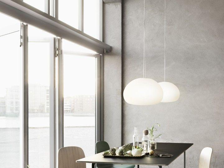 Muuto Leuchte fluid leuchte pendelleuchte weiß ø23 muuto skandinavisch modern