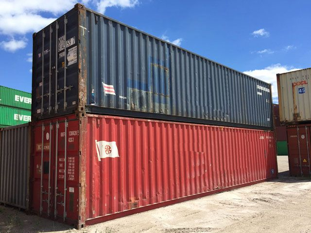 used shipping container wind and water tight container conex mil