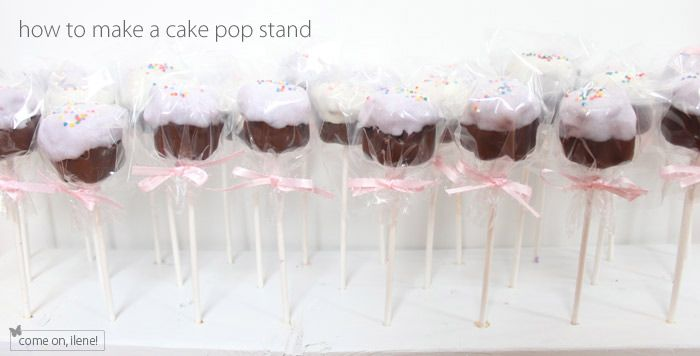 How to make a wood cake pop stand