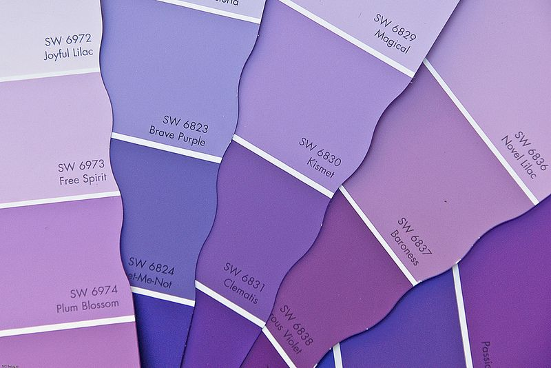 Purple Paint Samples Purple Girls Bedroom Purple Paint Light Purple Rooms