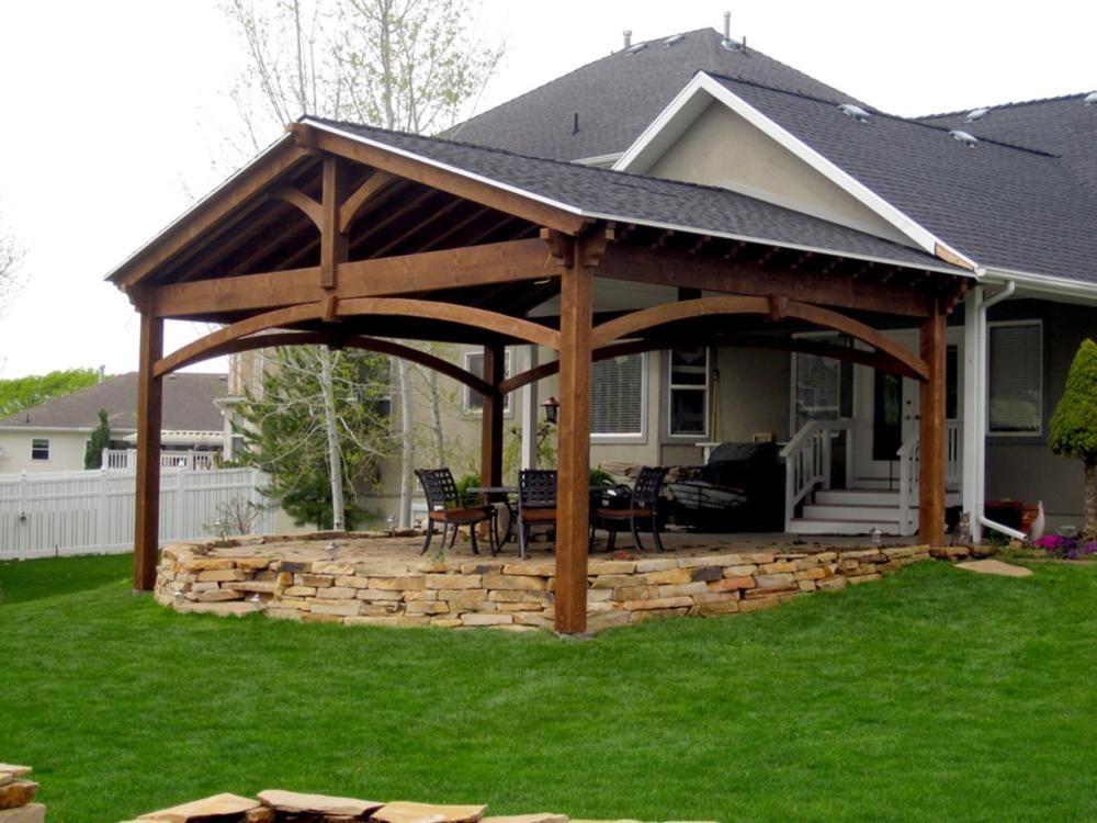 Lovely 39 Inexpensive Backyard Pavilion Design Ideas