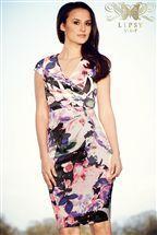Lipsy VIP Pleated Floral Shift Dress