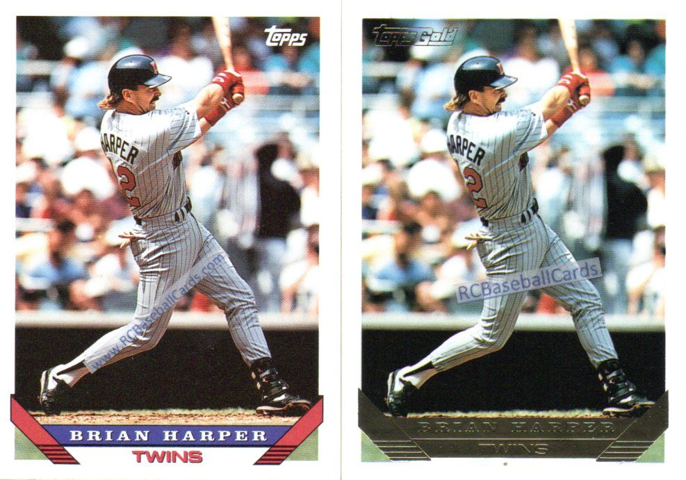 1993 brian harper twins 2 topps 389 b8712 1 gold