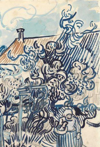 Old Vineyard with Peasant Woman Van Gogh Museum Van gogh  Van gogh