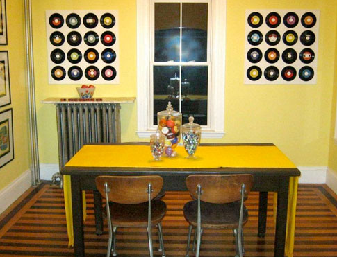 Yellow Dining Room With Retro Design