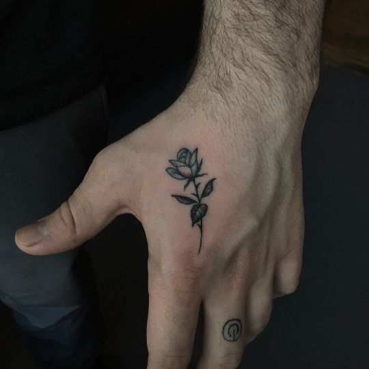 Zoiodlula Small Hand Tattoos Hand Tattoos For Guys Small Rose Tattoo