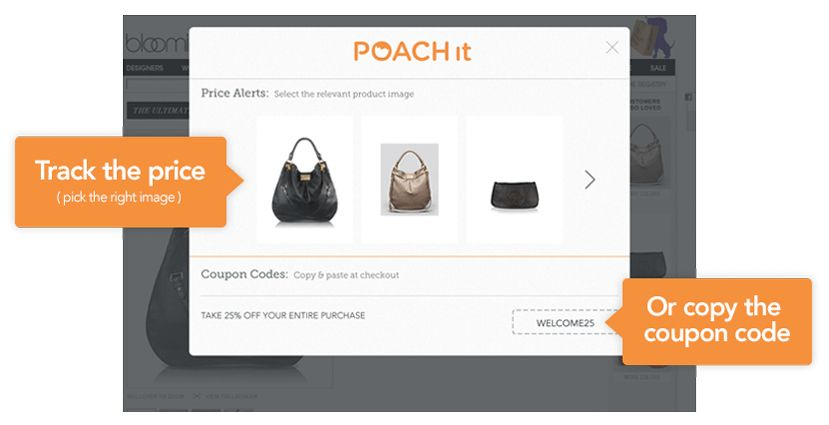 PoachIt allows you to track prices on stuff you want over