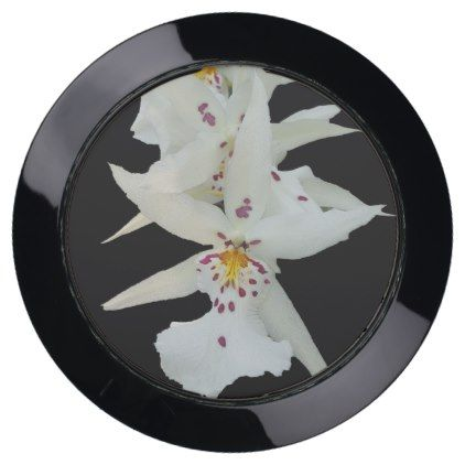 White Spider Orchid Flowers Usb Charging Station Zazzle