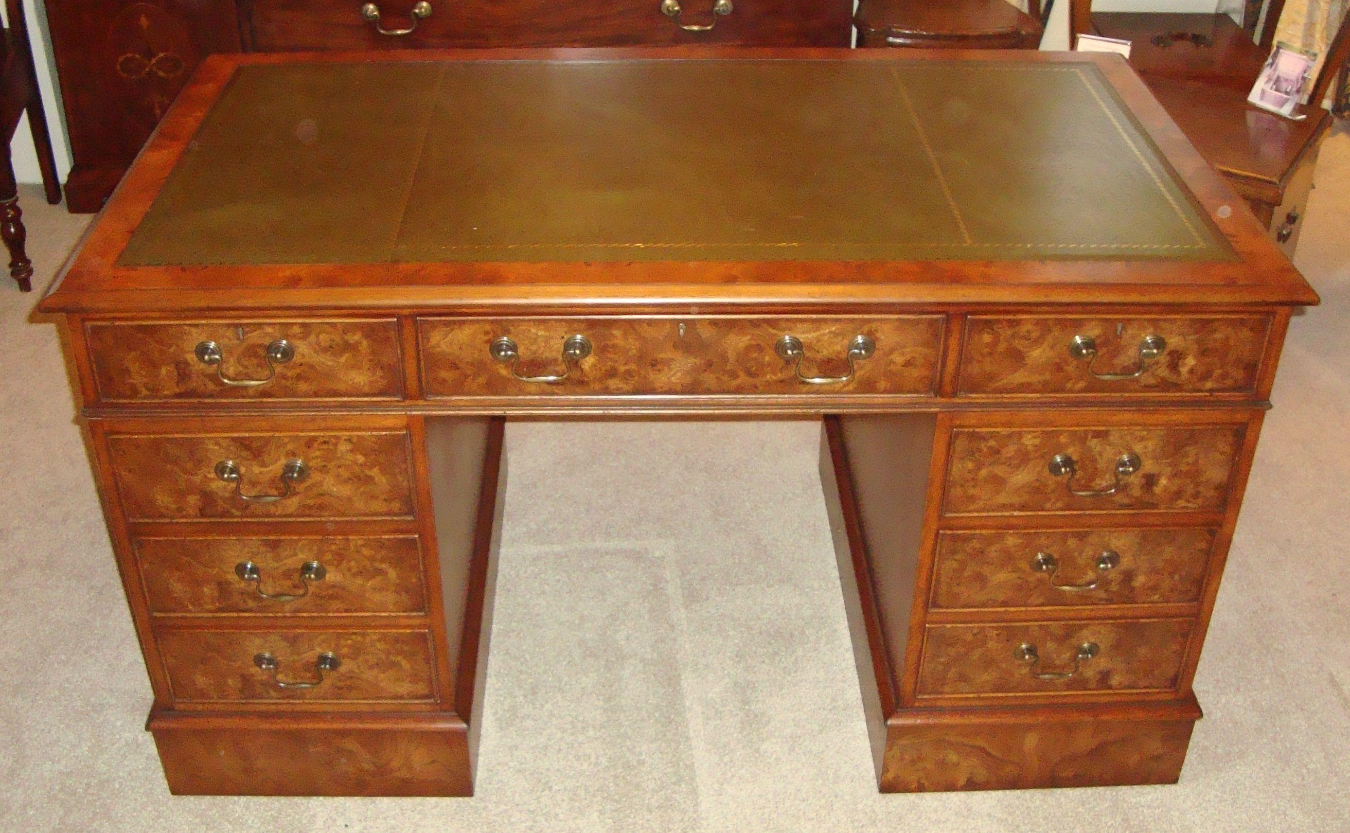 Fine quality reproduction pedestal desk