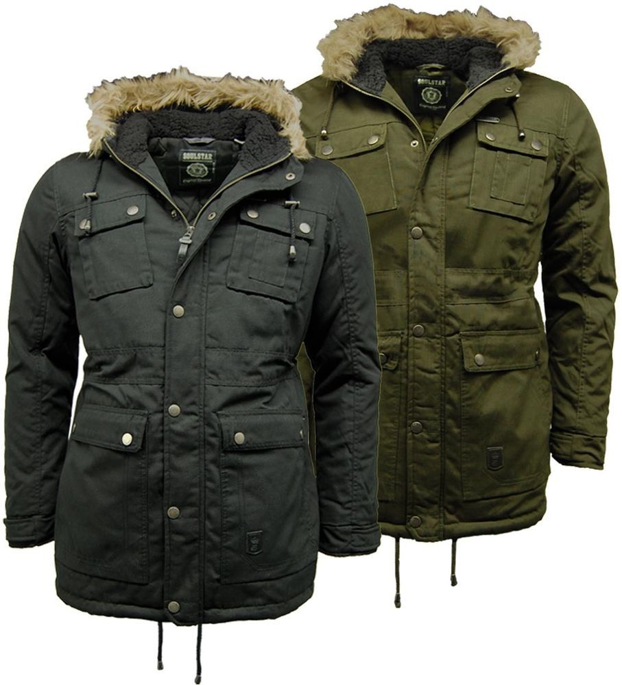 Mens Parka Coats | Jackets | SoulStar Padded Fishtail | Cancer ...