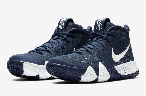 8935eb21be5 The Nike Kyrie 4 Surfaces In Navy And White Sometimes simple is better.  Lately we