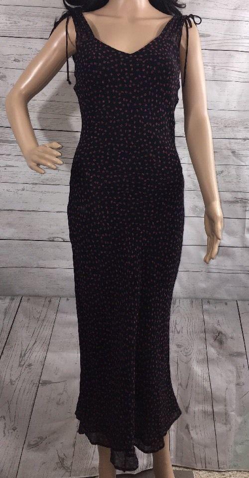 42fd486feca2 Lapis Anthropologie Maxi Dress Black Red Tiny Floral Print Sleeveless Dress  - S #Lapis #MaxiSundress #Casual
