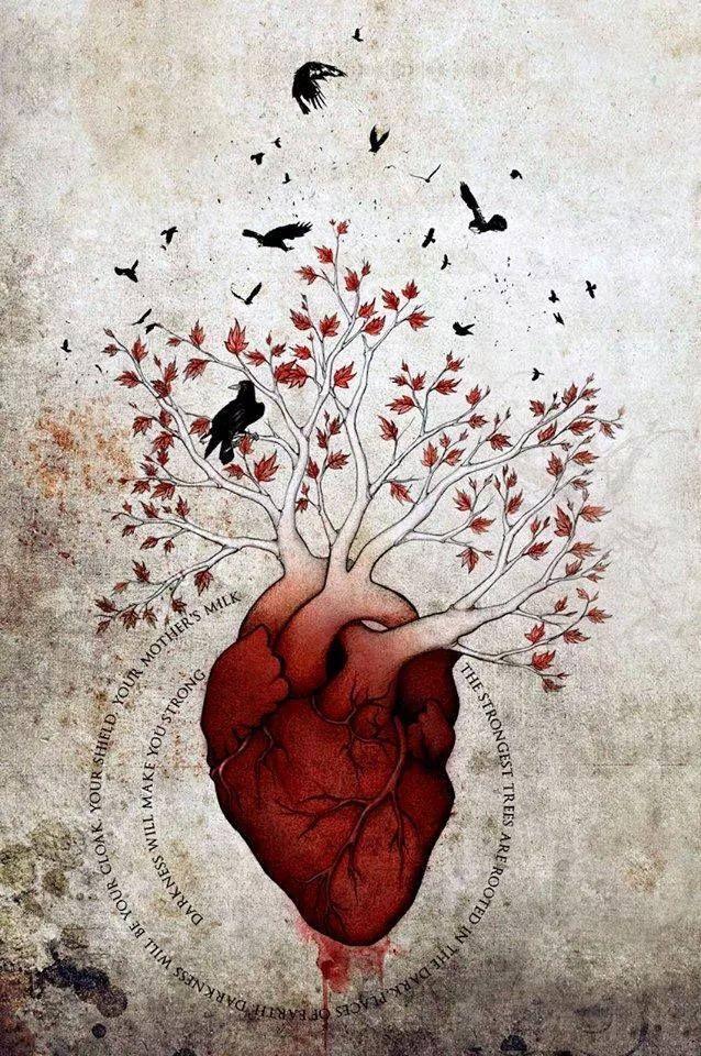 Heart tree | Game of Thrones | Future house | Pinterest | Heart tree ...