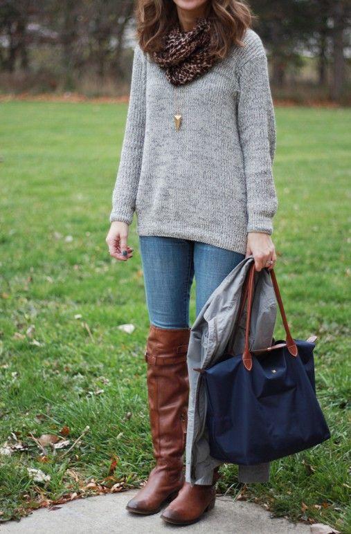 Fashion Cheap Portable Longchamp LM Bags Brown