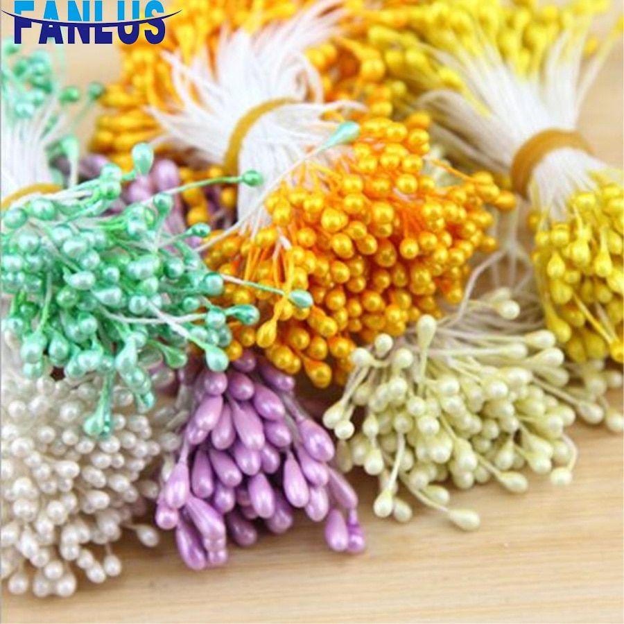 400pcs Artificial Flower Stamen Pearlized DIY Craft Card Decoration Floral