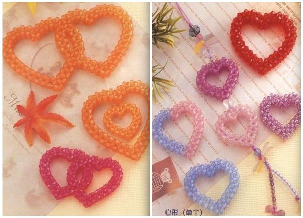 Hearts of beads