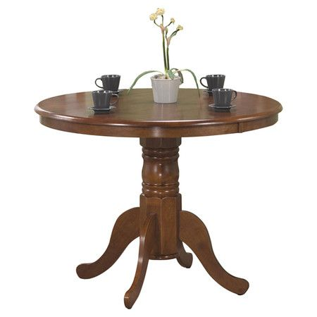 Featuring carved detailing and a classic pedestal silhouette, this sophisticated dining table is perfect for weekend dinner parties and casual family meals a...