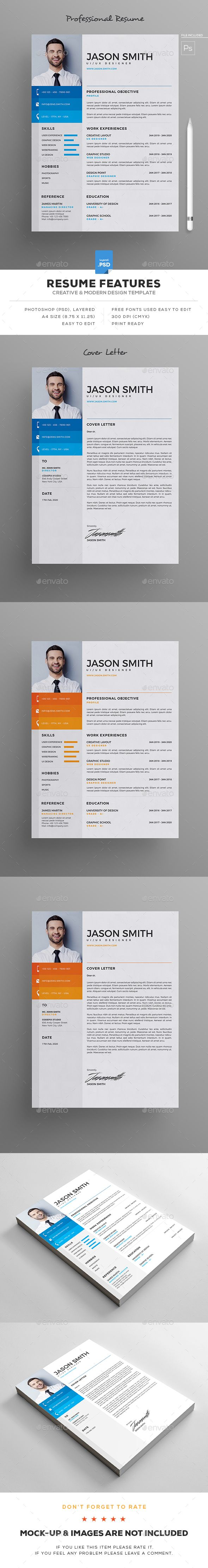 Resume Stationery Cv Template And Curriculum