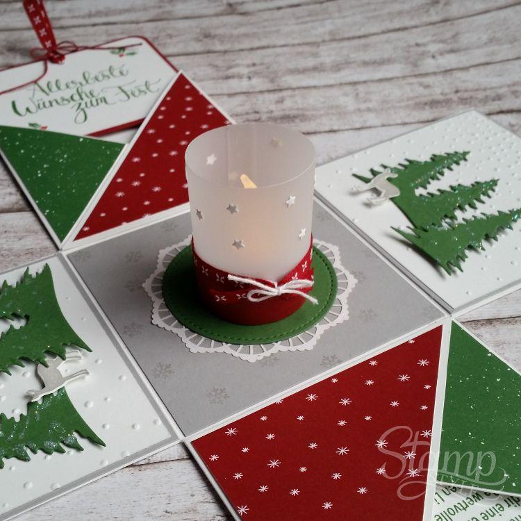 """Weihnachts-Workshop """"Explosionsbox"""" – Stamp-Style #stampshandmade"""