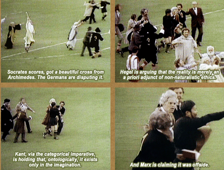 Monty Python, Greek vs German philosophers football