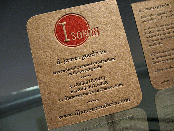 Kraft paper business cards 14 eye catching examples kraft paper kraft paper business cards 14 eye catching examples reheart Image collections