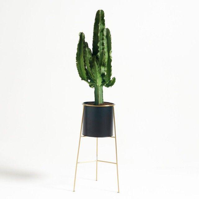 Cache-pot sur pied INAYA métal et laiton | Salons and Decoration