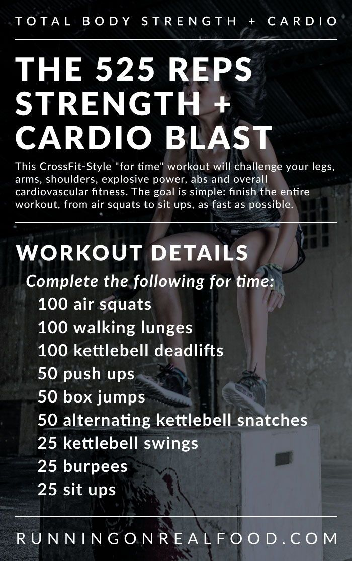 Total Body Strength And Cardio Workout A Crossfit Style Metcon Wod Cardio Workout Conditioning Workouts Fitness Body