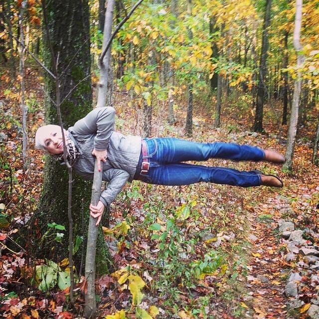 #JulyPoleChallenge Throwback Thursday #TBT to street polin' on the Appalachian trail. More like woods poling but same diff:)