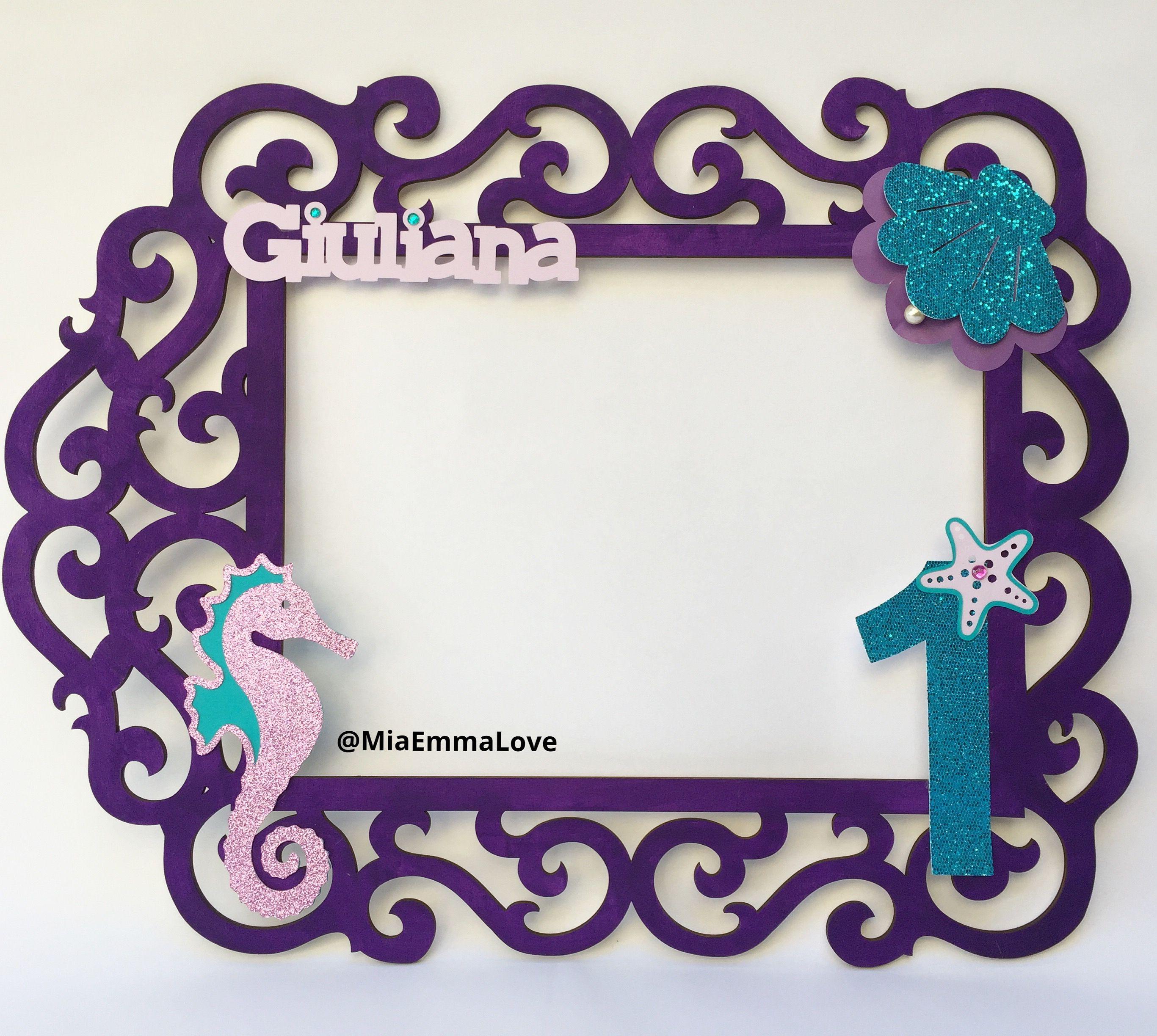 Little Mermaid Under The Sea Photobooth Frame