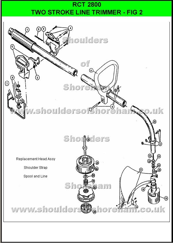 Rct2800      Ryobi    Trimmer brushcutter   Spare parts     Diagram