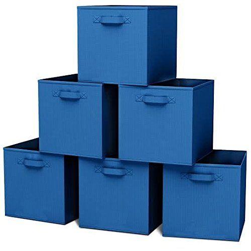 Closet Organizer Fabric Storage Basket Cubes Bins 6 Blue Cubeicals  Containers Drawers U003eu003eu003e You