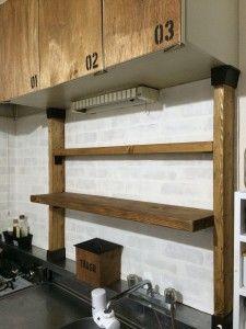 キッチンdiy ホームデコレーション ディアウォール 部屋 作り