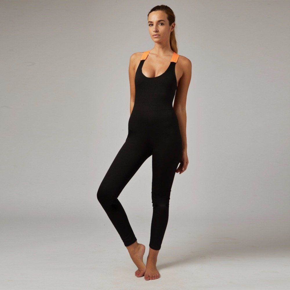 2adc9a8214fa Backless One-Piece Yoga Outfit in 2019