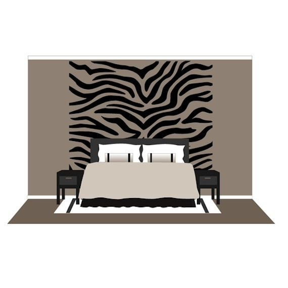Large Zebra Stripes Wall Mural Paint By Number - Wall Sticker Outlet