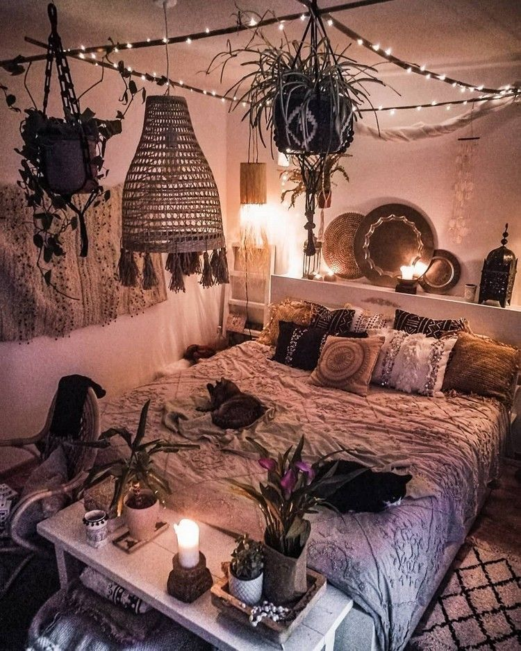 Bohemian Style Ideas For Bedroom Decor Design #teenroomdecor