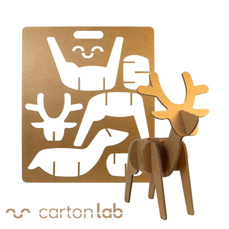 PACK ARBOLITO Y RENO | Navidad, Corte laser y Cartón