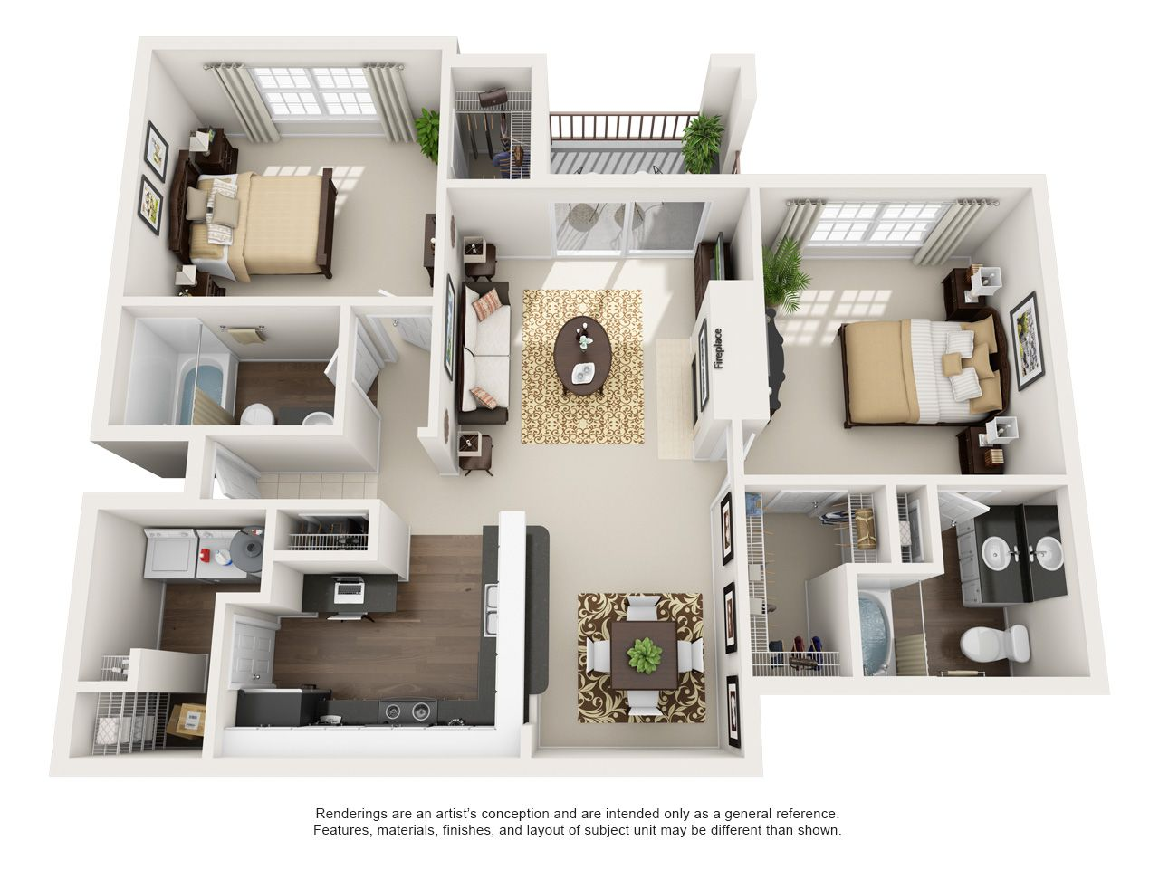 One Two And Three Bedroom Apartments In Euless Tx Euless Texas Apartment Steadfast House Floor Design Tiny House Floor Plans Apartment Layout