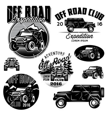 Templates For Suvs Off Road Sport Club Vector Image On Vectorstock
