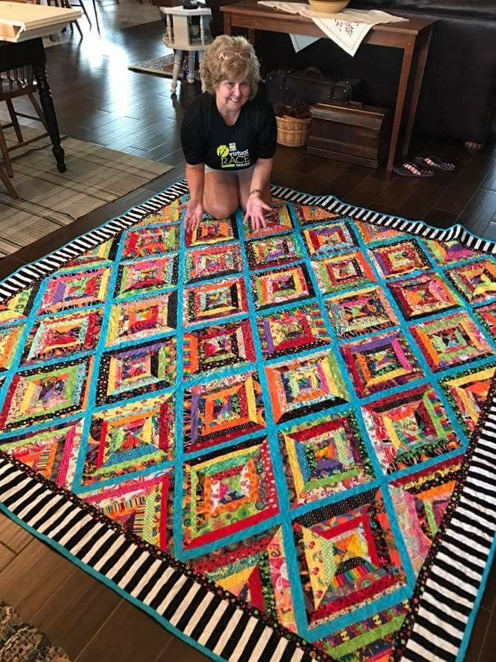 Like the black and white border #jellyrollquilts