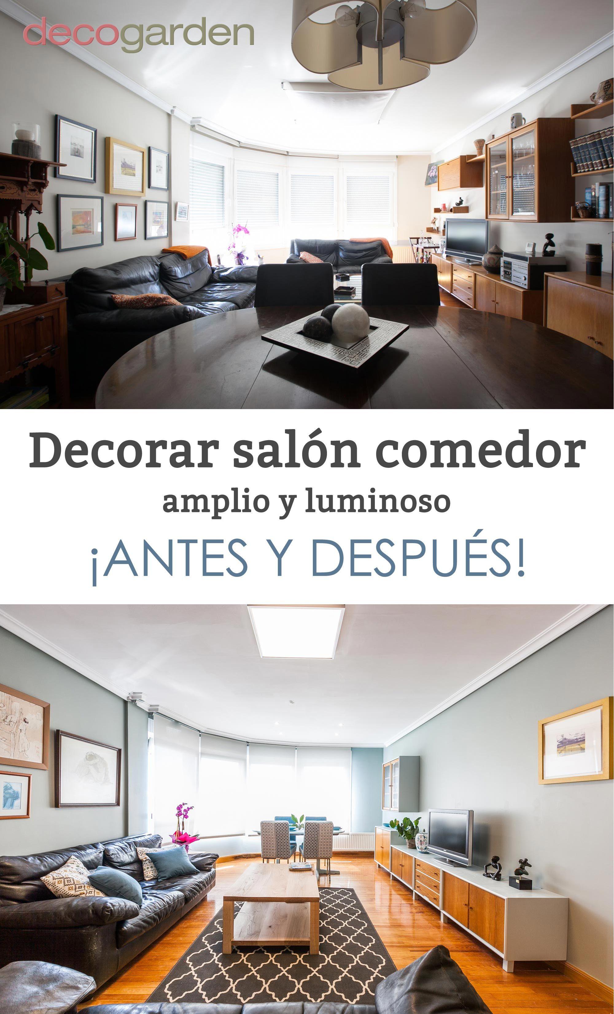 Decorar un salón comedor amplio y luminoso #decoración #decogarden #salon #comedor
