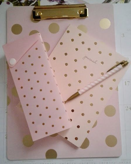 Pink And Gold Gold Office Supplies Girly Office Office Crafts