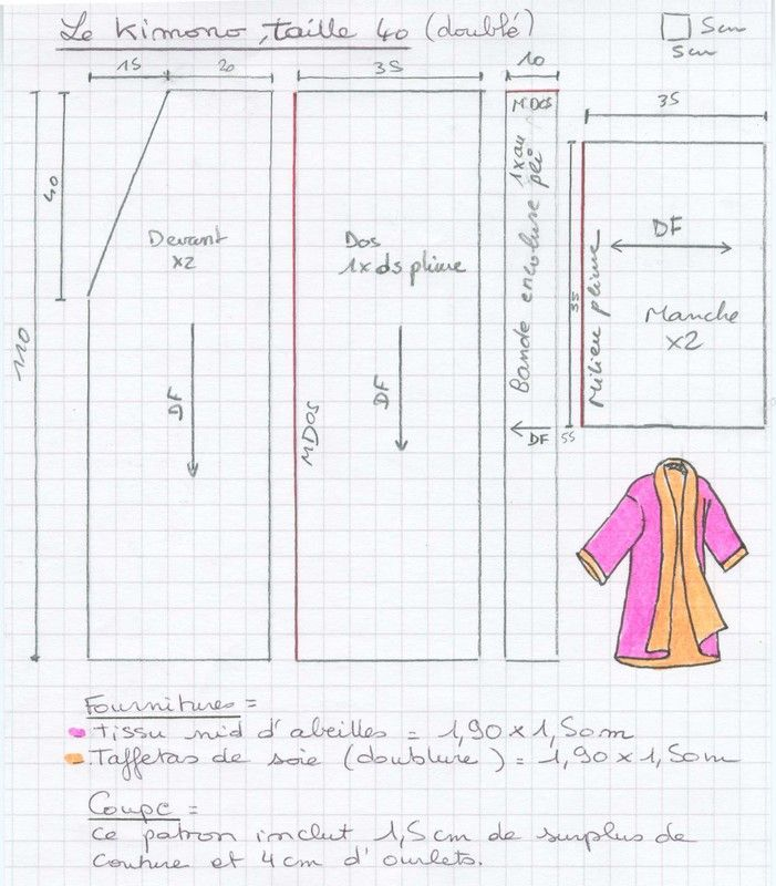 patron couture robe orientale