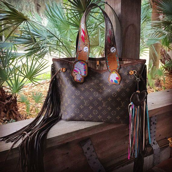 Vintage Swag Vintage Boho Inspired Fringed Louis Vuitton Louis Vuitton Louis Vuitton Neverfull Vuitton