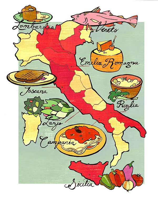 Italy the different regions and the food that - Regional italian cuisine ...